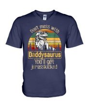 Dont Mess With Daddysaurus Youll Get Jurasskicked  V-Neck T-Shirt thumbnail