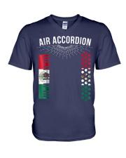 Air Accordion T Shirt Cinco De Mayo Mexican Flag F V-Neck T-Shirt thumbnail