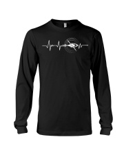 Funny Helicopter Pilot Heartbeat Shirt Long Sleeve Tee tile