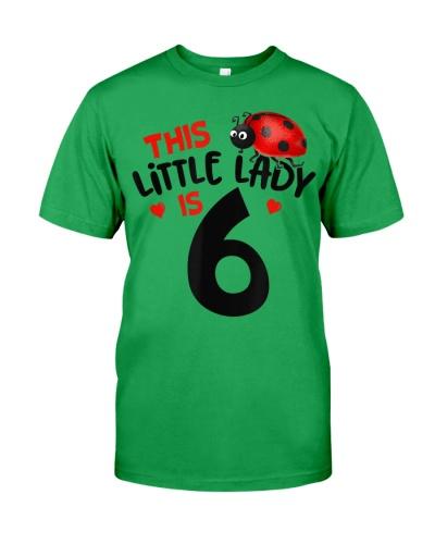 This Little Lady Is 6 Ladybug Birthday Girl