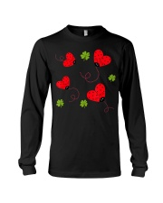 Womens Ladybug Heart Graphic T-Shirt Long Sleeve Tee thumbnail
