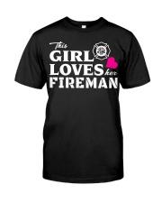 This Girl Loves Her Fireman - Firefighte Premium Fit Mens Tee thumbnail