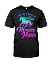 THIS GIRL RUNS ON HORSES  JESUS Love R Classic T-Shirt thumbnail