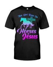 THIS GIRL RUNS ON HORSES  JESUS Love R Premium Fit Mens Tee thumbnail