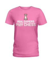 Real Gamers Play Chess - National Ladies T-Shirt front