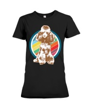 Poodle Retro Style T-Shirt Gift Idea 6 Premium Fit Ladies Tee thumbnail