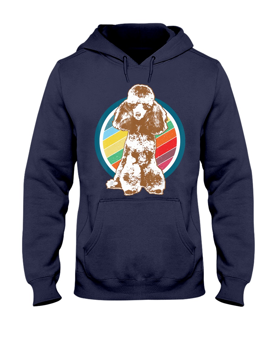 Poodle Retro Style T-Shirt Gift Idea 6 Hooded Sweatshirt