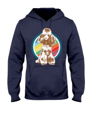 Poodle Retro Style T-Shirt Gift Idea 6 Hooded Sweatshirt front