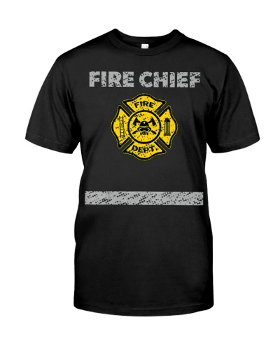 Firefighter Chief Costume Distressed T Shi