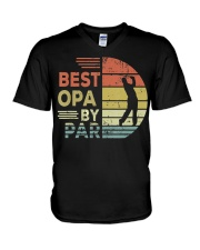 Golf Best Opa By Par daddy Father's Day V-Neck T-Shirt thumbnail