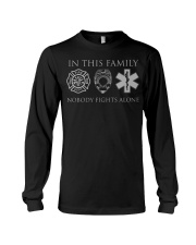Police EMS and Firefighter Fa Long Sleeve Tee thumbnail