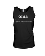 Oma Definition Funny Dutch Grandma Mother D Unisex Tank thumbnail