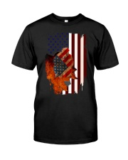 Poodle USA Flag 4th Of July Veterans Dog Premium Fit Mens Tee thumbnail