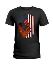 Poodle USA Flag 4th Of July Veterans Dog Ladies T-Shirt thumbnail