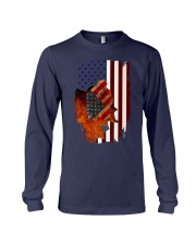 Poodle USA Flag 4th Of July Veterans Dog Long Sleeve Tee front