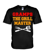 Mens Gramps The Grill Master Grilling and V-Neck T-Shirt thumbnail