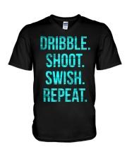 Basketball t-shirt Dribble shoot  t V-Neck T-Shirt front
