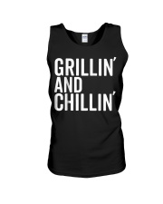 Grillin And Chillin Fathers Day Shirt Grillin Unisex Tank thumbnail