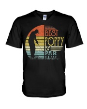 Mens Best Poppy By Par Father's Day Gifts V-Neck T-Shirt thumbnail