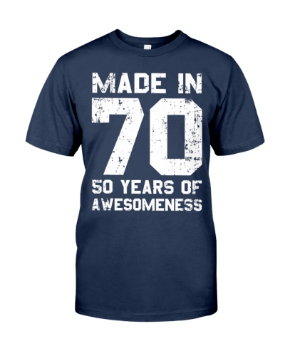 Made In 70 50 Years Of 1970 Birthday Vintage