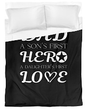 Dad First a Son's Hero a Daughter's first Love Duvet Cover - Twin XL thumbnail