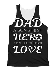 Dad First a Son's Hero a Daughter's first Love All-over Unisex Tank thumbnail