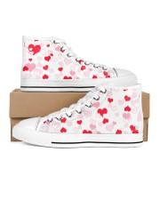 FULL OF HEART Women's High Top White Shoes thumbnail