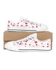 FULL OF HEART Women's Low Top White Shoes tile