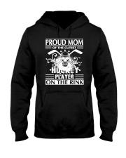 Hockey Pround Mom Hooded Sweatshirt front
