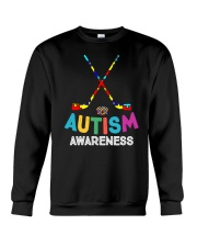 Autism Awareness Hockey Crewneck Sweatshirt thumbnail