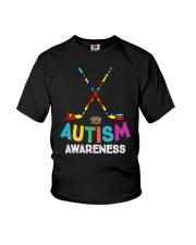 Autism Awareness Hockey Youth T-Shirt thumbnail