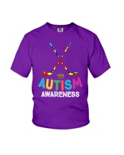 Autism Awareness Hockey Youth T-Shirt front