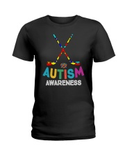 Autism Awareness Hockey Ladies T-Shirt thumbnail