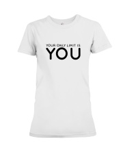 Your Only Limit Is You Inspire Lifestyle Pink Premium Fit Ladies Tee thumbnail