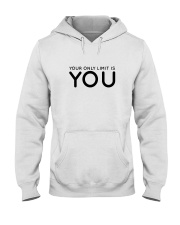 Your Only Limit Is You Inspire Lifestyle Pink Hooded Sweatshirt thumbnail