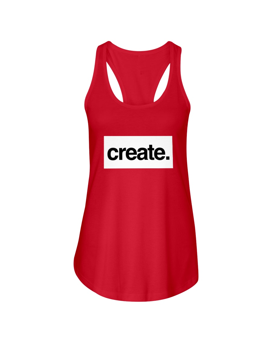 Create Inspire Lifestyle White Ladies Flowy Tank