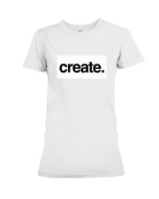 Create Inspire Lifestyle White Premium Fit Ladies Tee thumbnail