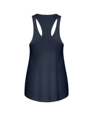 Girl Gang Lifestyle White Navy Ladies Flowy Tank back