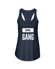 Girl Gang Lifestyle White Navy Ladies Flowy Tank front