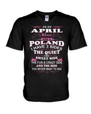 LOVE-POLAND-AND-APRIL V-Neck T-Shirt thumbnail