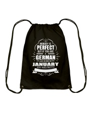GERMAN-YOU-PERFECT-JANUARY Drawstring Bag thumbnail