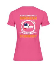 DOMINICAN-FEBRUARY-NEVER-UNDERESTIMATE Premium Fit Ladies Tee thumbnail