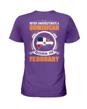 DOMINICAN-FEBRUARY-NEVER-UNDERESTIMATE Ladies T-Shirt thumbnail