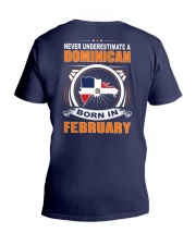 DOMINICAN-FEBRUARY-NEVER-UNDERESTIMATE V-Neck T-Shirt thumbnail