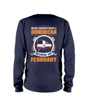 DOMINICAN-FEBRUARY-NEVER-UNDERESTIMATE Long Sleeve Tee back