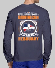DOMINICAN-FEBRUARY-NEVER-UNDERESTIMATE Long Sleeve Tee lifestyle-unisex-longsleeve-back-1