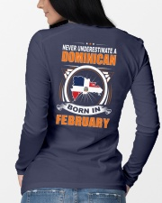 DOMINICAN-FEBRUARY-NEVER-UNDERESTIMATE Long Sleeve Tee lifestyle-unisex-longsleeve-back-3