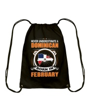 DOMINICAN-FEBRUARY-NEVER-UNDERESTIMATE Drawstring Bag thumbnail