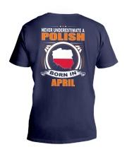 POLISH-APRIL-NEVER-UNDERESTIMATE V-Neck T-Shirt thumbnail