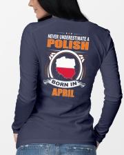 POLISH-APRIL-NEVER-UNDERESTIMATE Long Sleeve Tee lifestyle-unisex-longsleeve-back-3